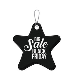 isolated hanging tag of black friday design vector image
