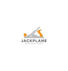 jack plane logo design template vector image