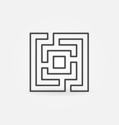 Labyrinth or maze icon vector