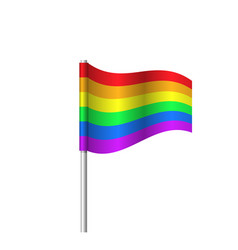 Lgbt pride rainbow flag icon - homosexuality vector