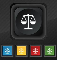 Libra icon symbol Set of five colorful stylish vector