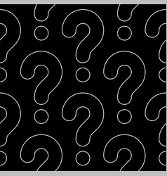 Line art question marks seamless pattern vector