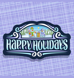 Logo for happy holidays vector