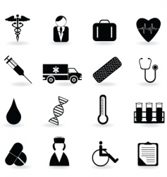 medical and health icons vector image