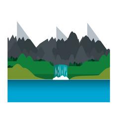 Mountains icon image vector