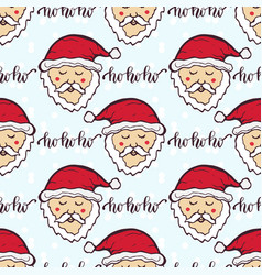 New year pattern with funny santa christmas vector