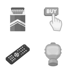 Nicotine technology and other monochrome icon in vector