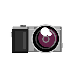 photo camera on a white vector image