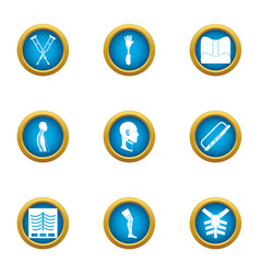 Posture icons set flat style vector