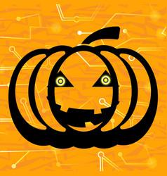 Pumpkin circuit background vector
