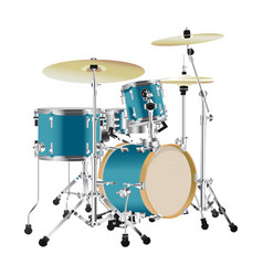 Realistic drum kit vector