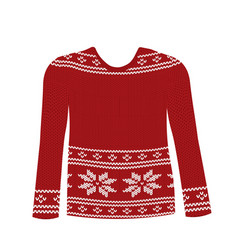 red knitted sweater vector image