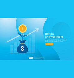 return on investment roi concept business growth vector image