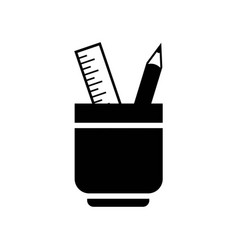 ruler and pencil office tools icon icon simple vector image