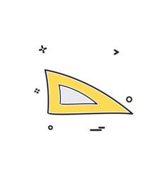 ruler scale triangle icon design vector image