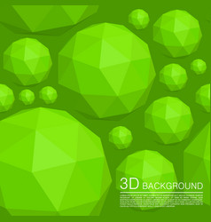 Seamless 3d balls polygons vector