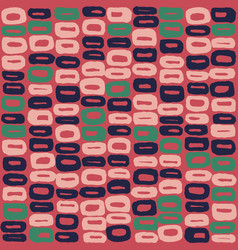 Seamless pattern of 60s blue green and vector