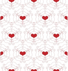 Seamless Pattern with openwork Hearts vector image