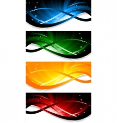 set colorful banner vector image