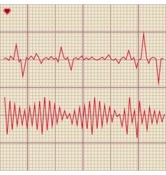 Set various cardiogram design elements vector