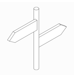 Signpost icon isometric 3d style vector