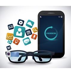 Smart glasses vector