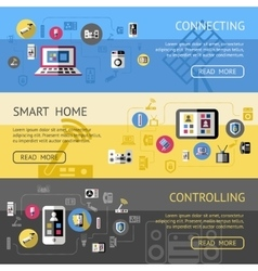 Smart Home Banner Set vector image