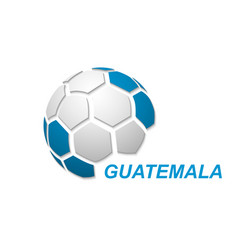 soccer ball with national flag colors vector image