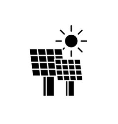 solar power black icon sign on isolated vector image