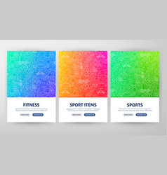sport flyer concepts vector image