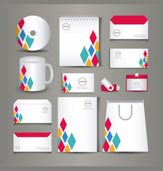 Stationary templates design vector