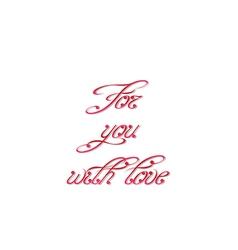 Swirl handwritten text vector image