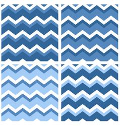 tile chevron pattern set with sailor blue vector image