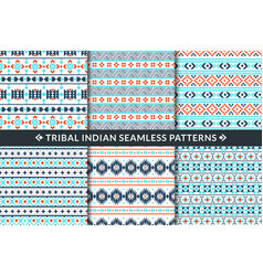 tribal indian seamless patterns aztec maya and vector image