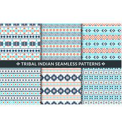 tribal indian seamless patterns aztec maya vector image