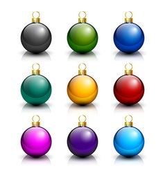 Various Christmas balls vector image