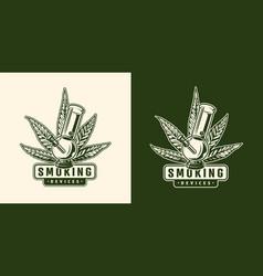 vintage cannabis emblem template vector image