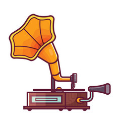 vintage horn gramophone icon vector image