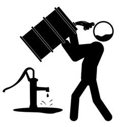 Water contamination icon vector
