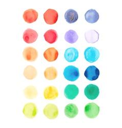 Watercolor paints palette vector