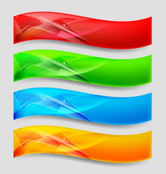 web wave panels form an abstract background vector image