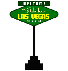 welcome las vegas vector image