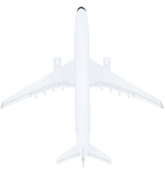 White airplane top view vector