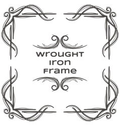 Wrought Iron Frame Eight vector