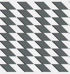 Zigzag repeatable pattern with parallelograms vector