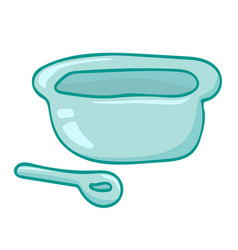 bowl and spoon isolated vector image