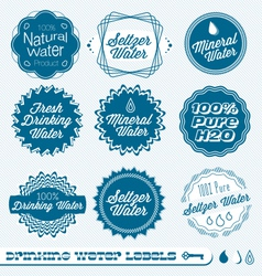 Drinking Water Labels vector image
