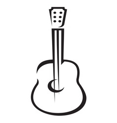 Guitar icon simple resize vector image vector image