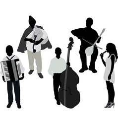 musicians vs vector image vector image