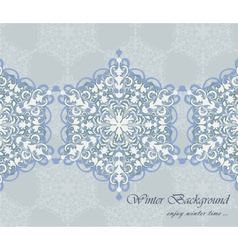 Winter card background with ornaments vector image vector image